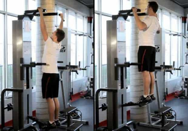assisted pull up machine